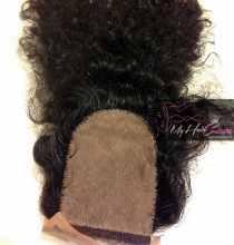 Virgin Deep Curly Silk Closure