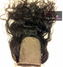 Virgin Indian Curly Silk Closure