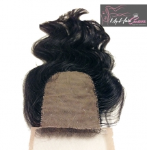 Virgin Indian Wavy Silk Closure